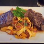 pasta und steak
